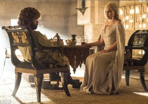 tyrion lannister, khaleesi, jon snow dead, game of thrones, khaleesi meets tyrion