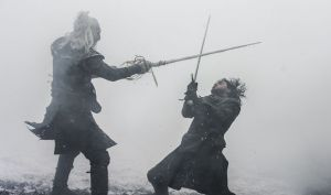 Jon snow, white walker fight with jon snow, jon snow dead, game of thrones